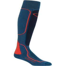 Icebreaker OTC Medium Ski Socks Men Prussian Blue/Midnight Navy/Chili Red